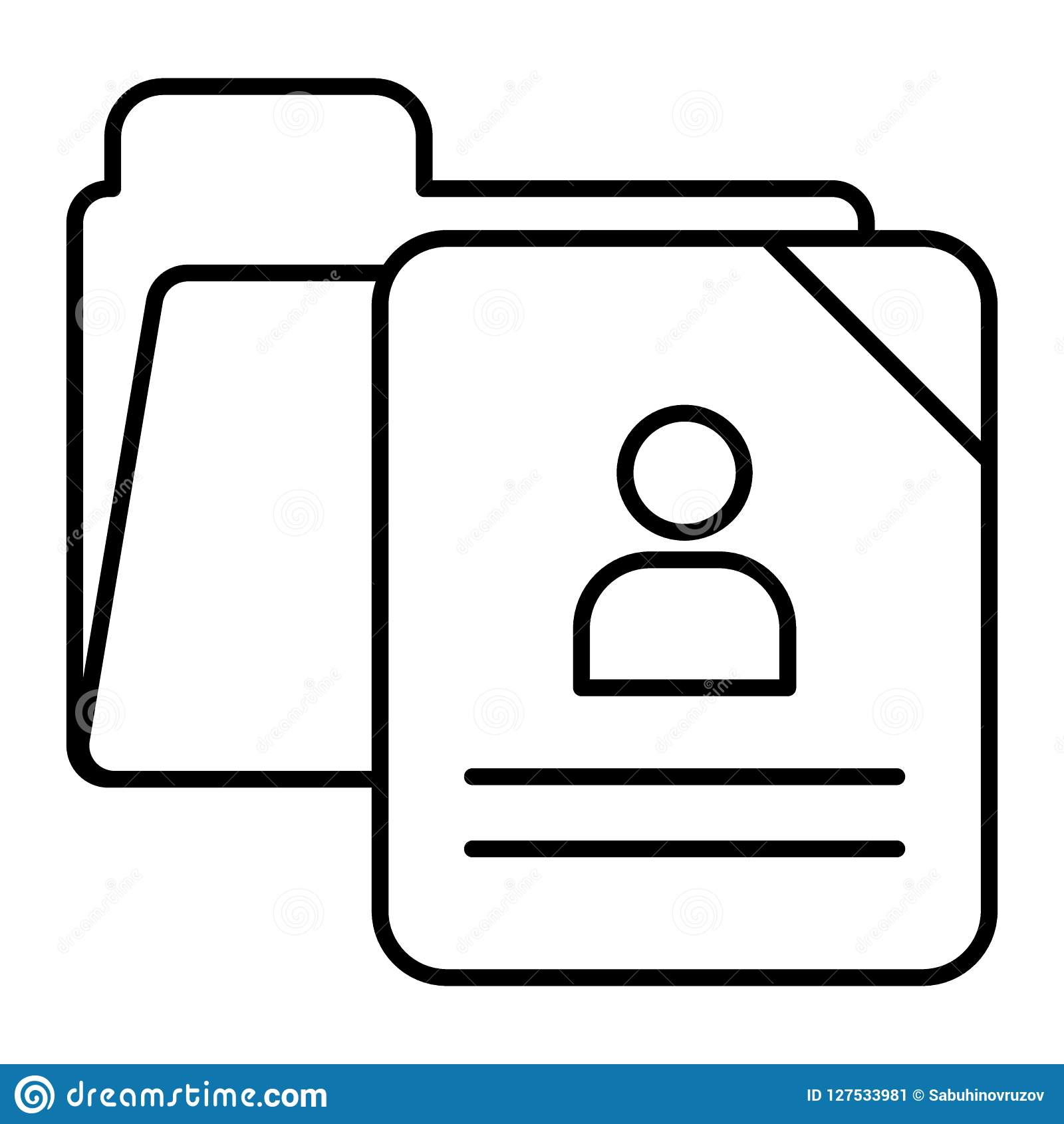 School Questionnaire Form Thin Line Icon School Document Vector