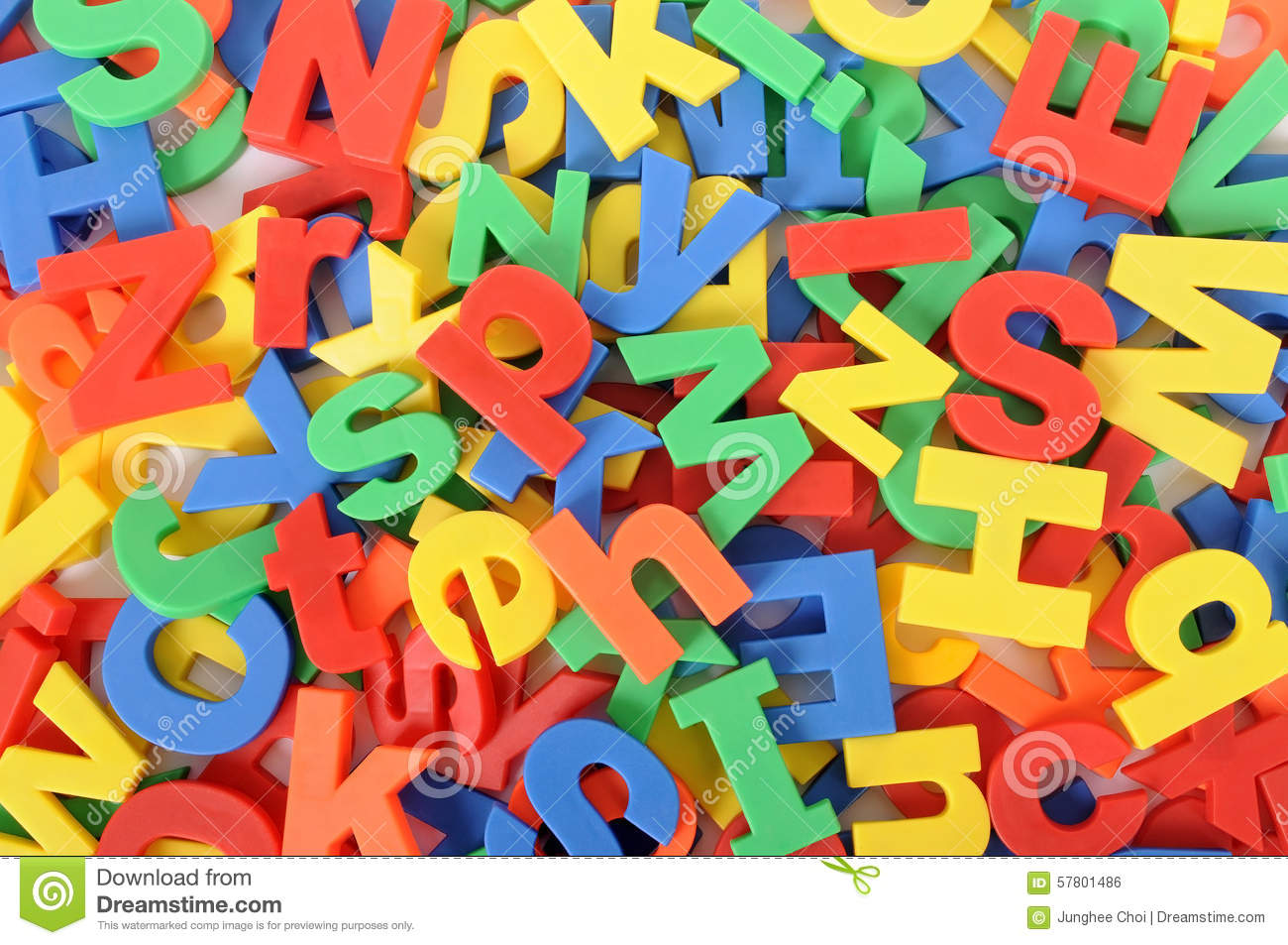 School reading, writing concept, background of plastic toy alphabet ...
