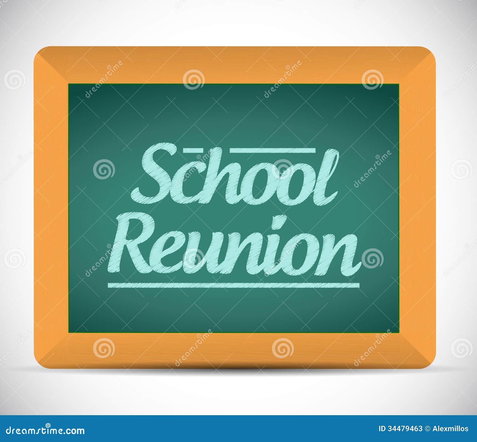 School Reunion Message Written On A Chalkboard Stock ...