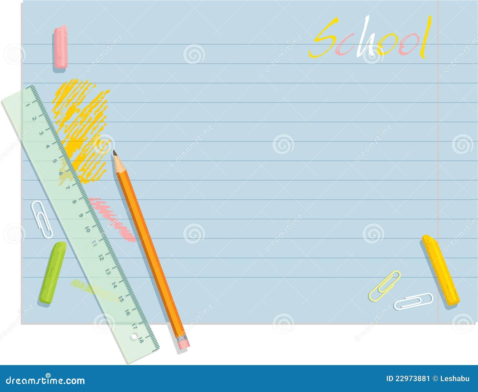 Pencil Paper Icon School Schedule Backgr...