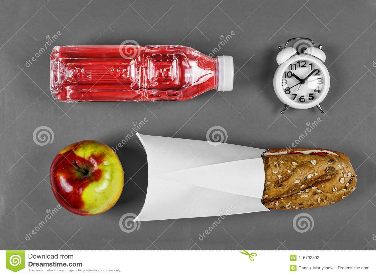School, snack, Healthy food concept, sandwich, lunch, meal, Flat lay composition, environmentally products