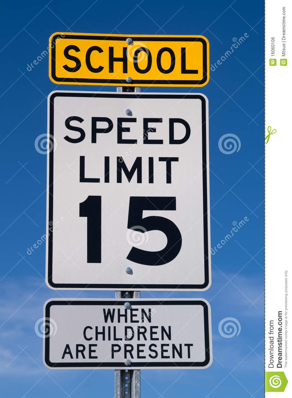 School Speed Limit Sign Royalty Free Stock Image - Image: 16060106