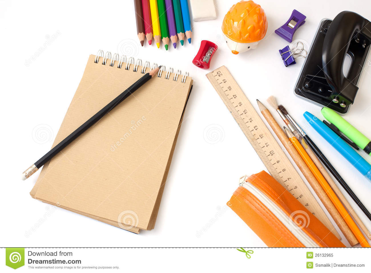 School stationery royalty free stock photo image 26132965
