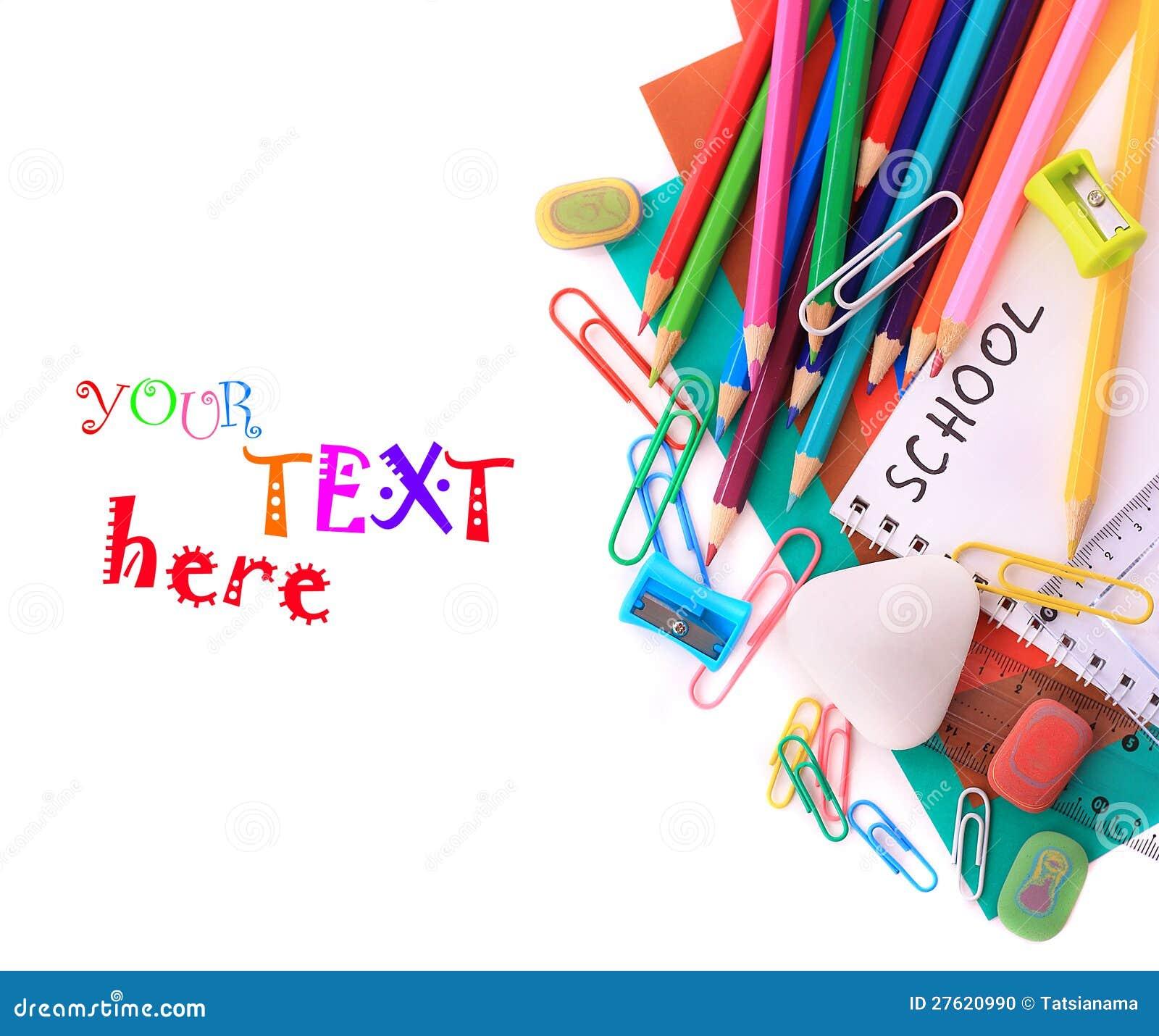 School Stationery Stock Photo Image 27620990