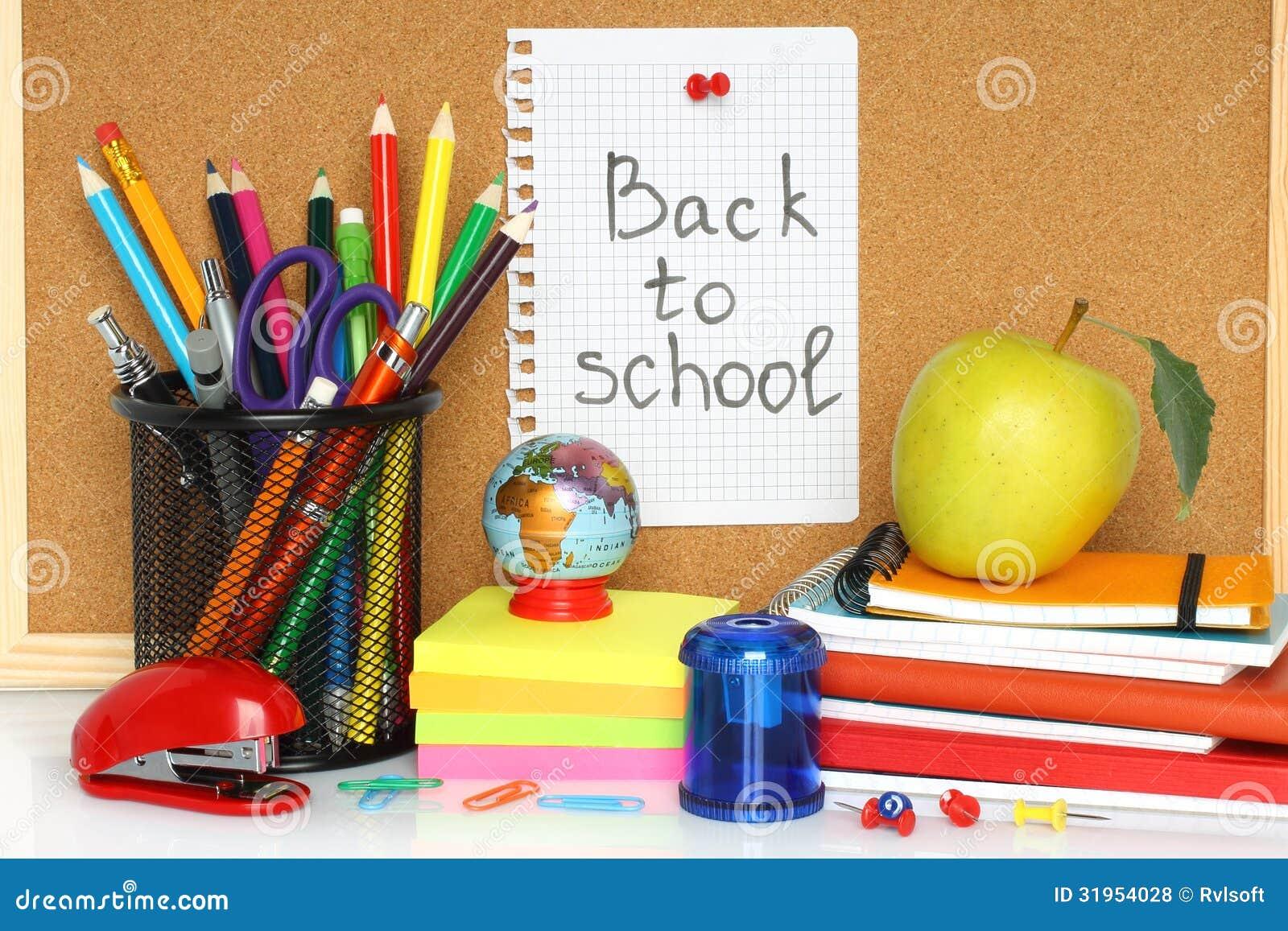 School Stationery Royalty Free Stock Photos - Image: 31954028