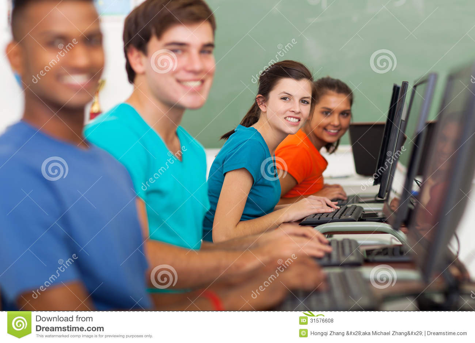 School students computers