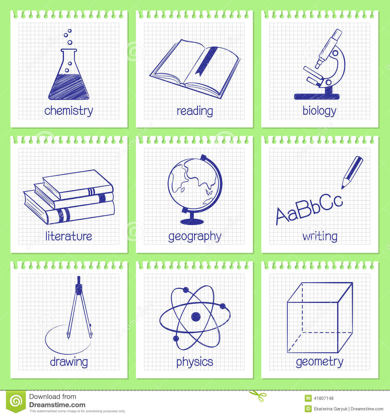 Animation set of subjects college precalculus