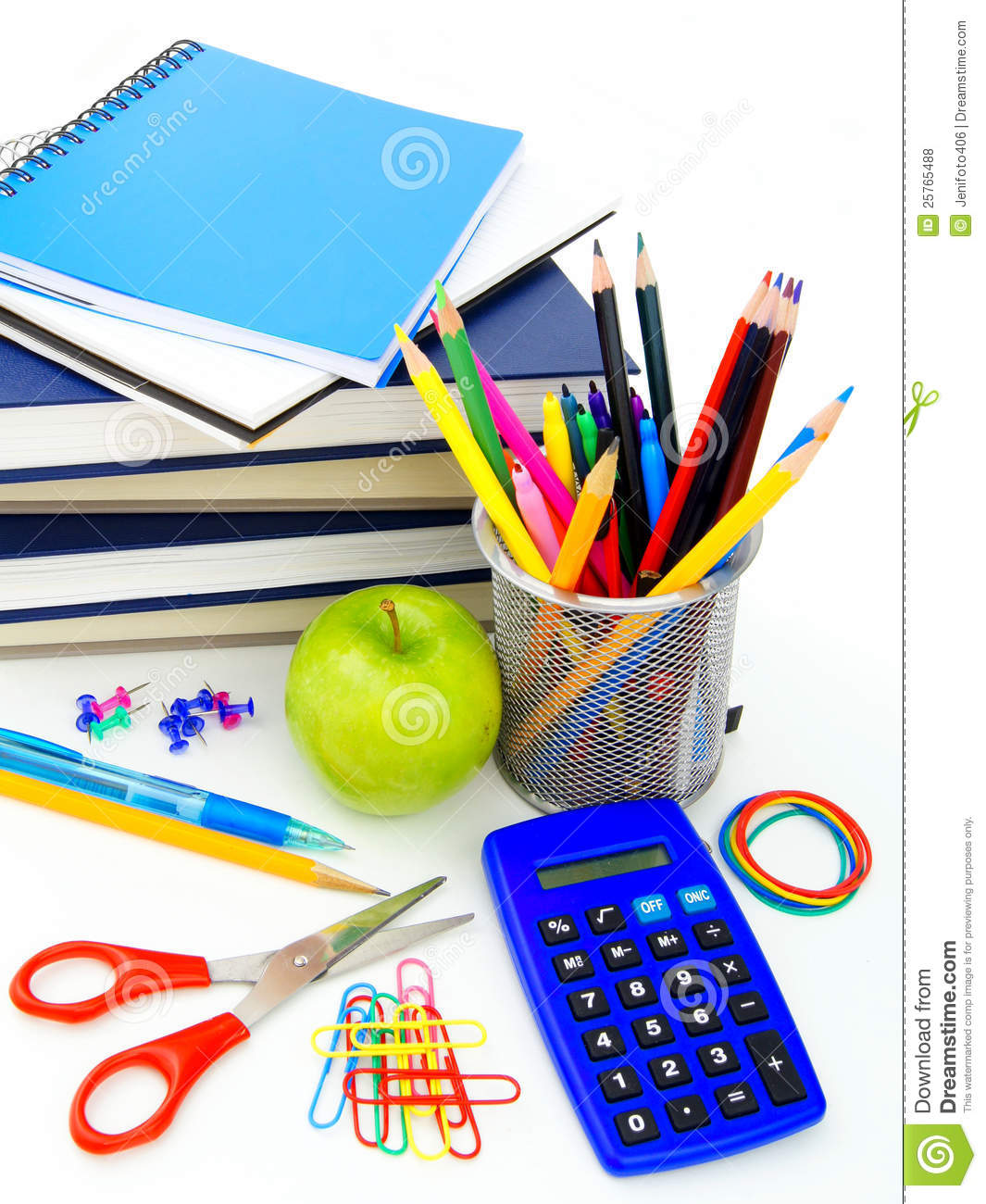 School Supplies Stock Photo. Image Of Objects, Holder