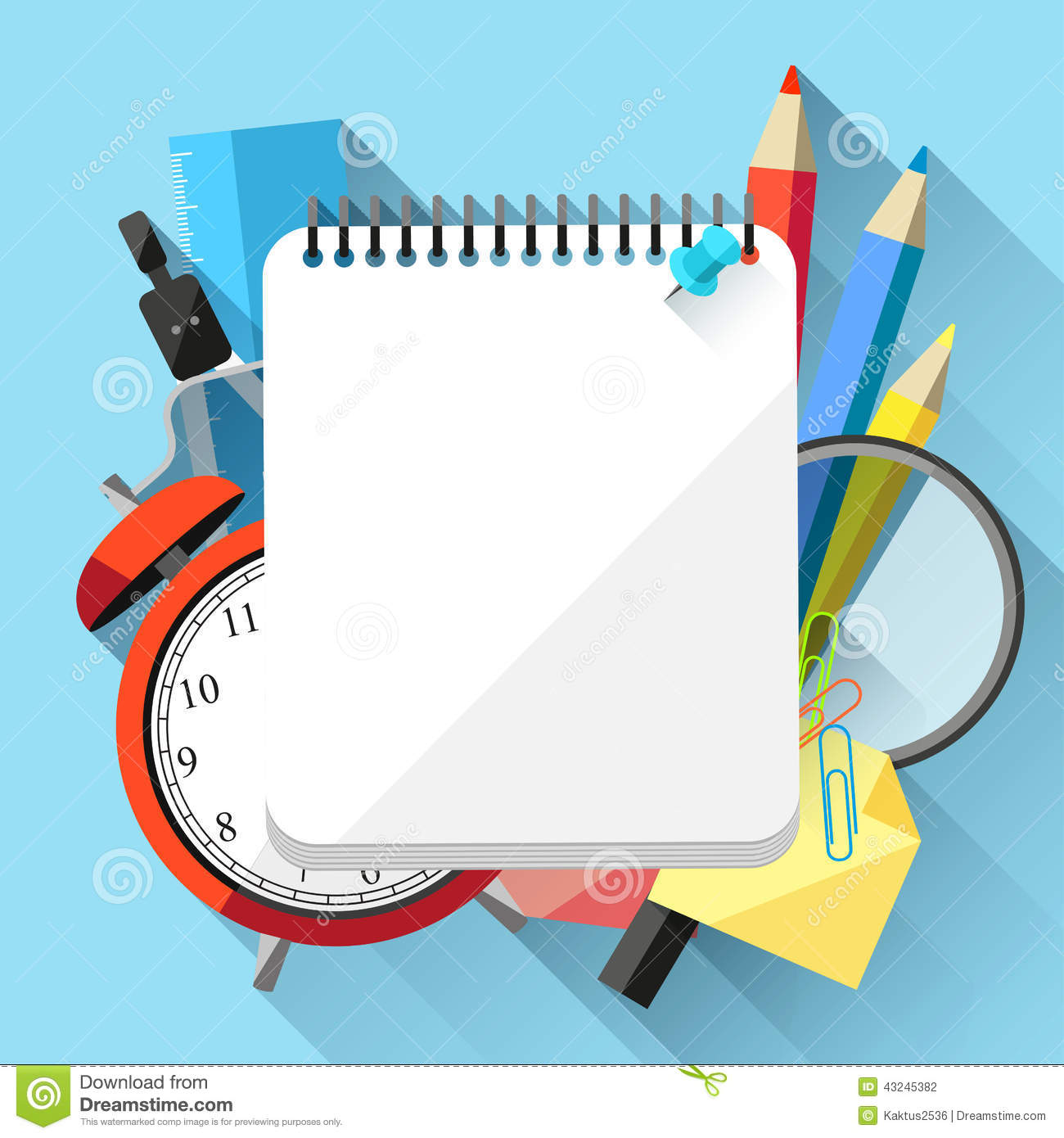 School supplies stock vector. Illustration of knowledge ...