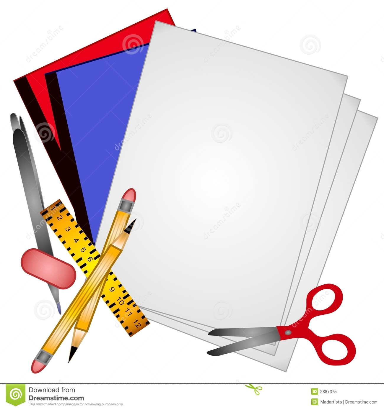 school supplies clip art 3 stock illustration illustration of rh dreamstime com clipart pictures school supplies clipart school supplies black and white