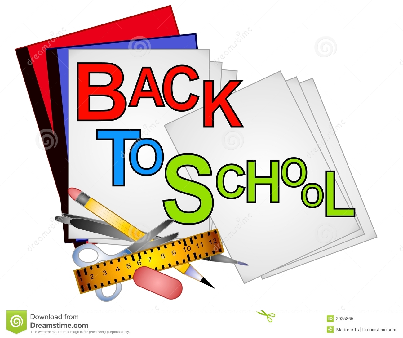 school supplies clip art 4 stock illustration illustration of rh dreamstime com free clip art for school subjects to print free clip art for school board chairman