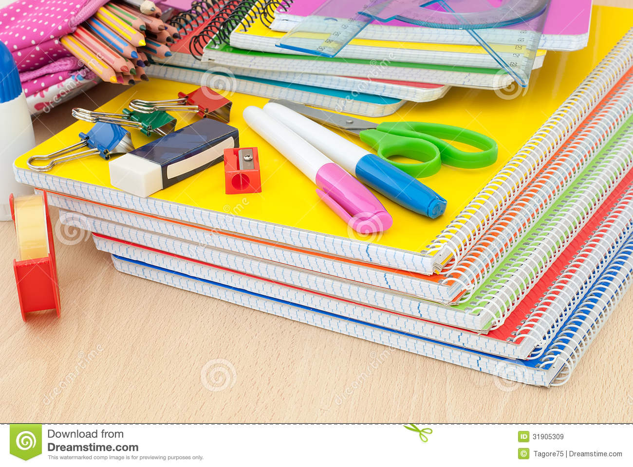 School Supplies On Desk Royalty Free Stock Images - Image ... School Desk Background