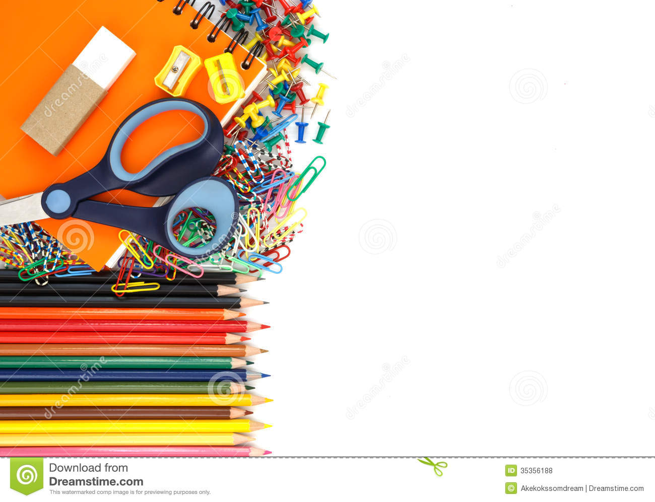 school supplies isolated on white background royalty free Art Supplies Clip Art Supplies Clip Art
