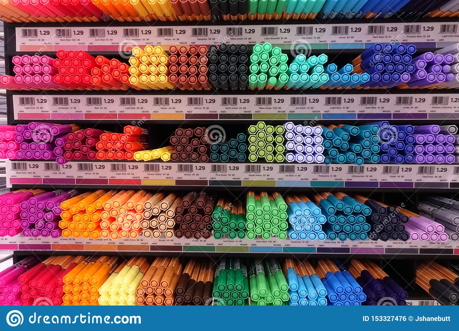 School Supplies at a local retail store