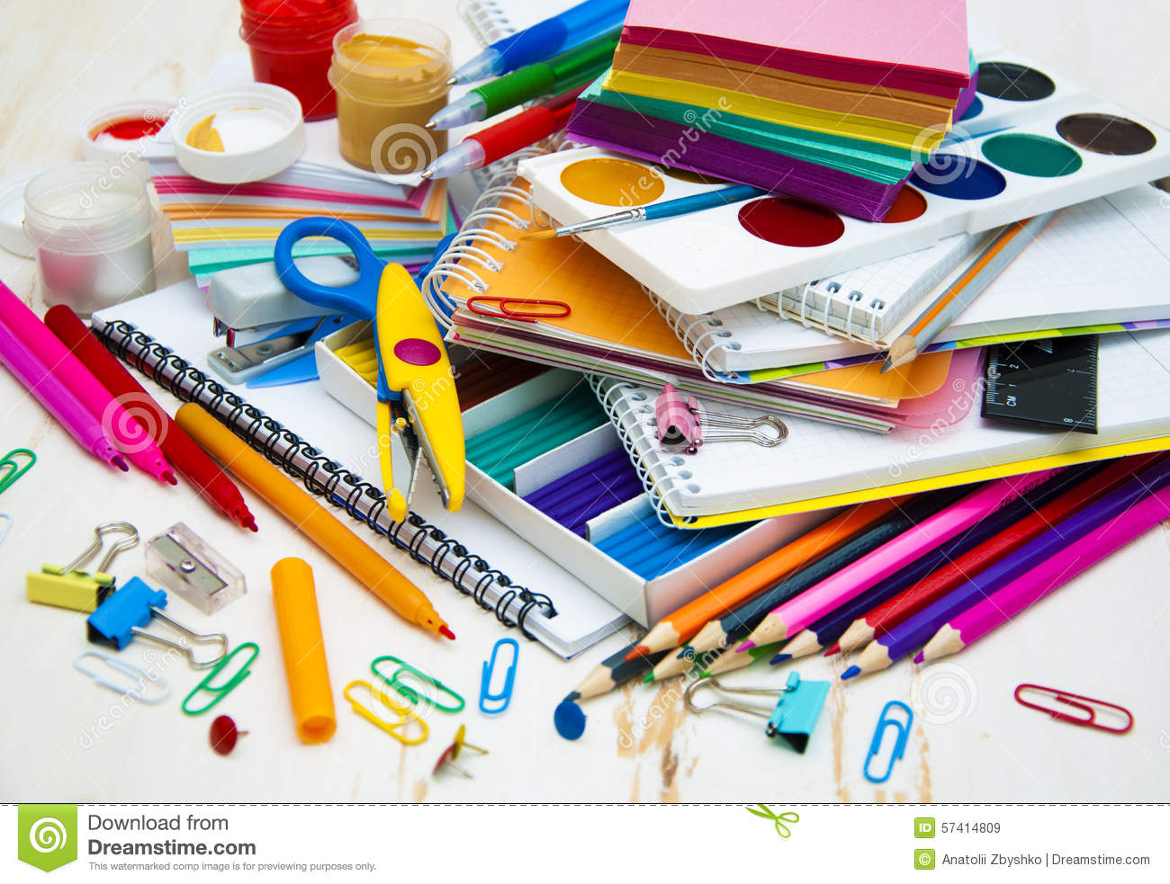 school supplies stock image  image of desk  business