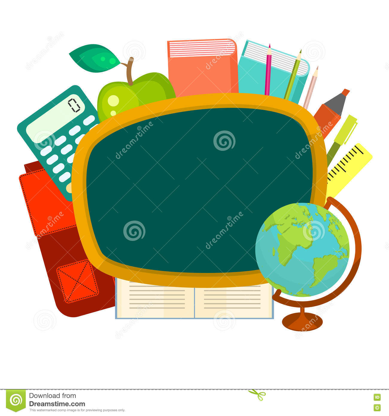 school supplies clip art stock illustration illustration of drawn rh dreamstime com free clipart images of school supplies clipart images of school supplies