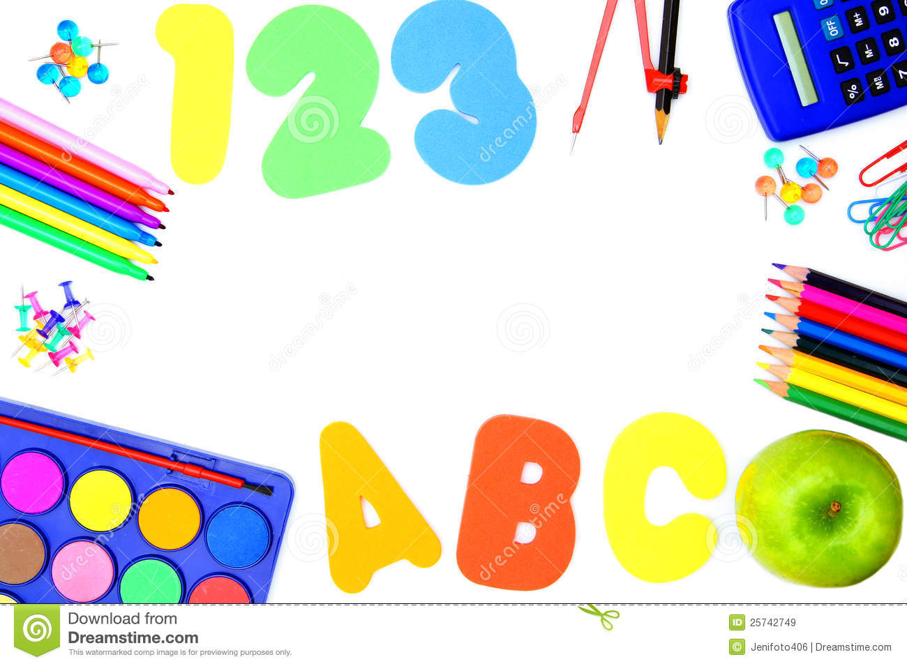 school supply frame royalty free stock images image