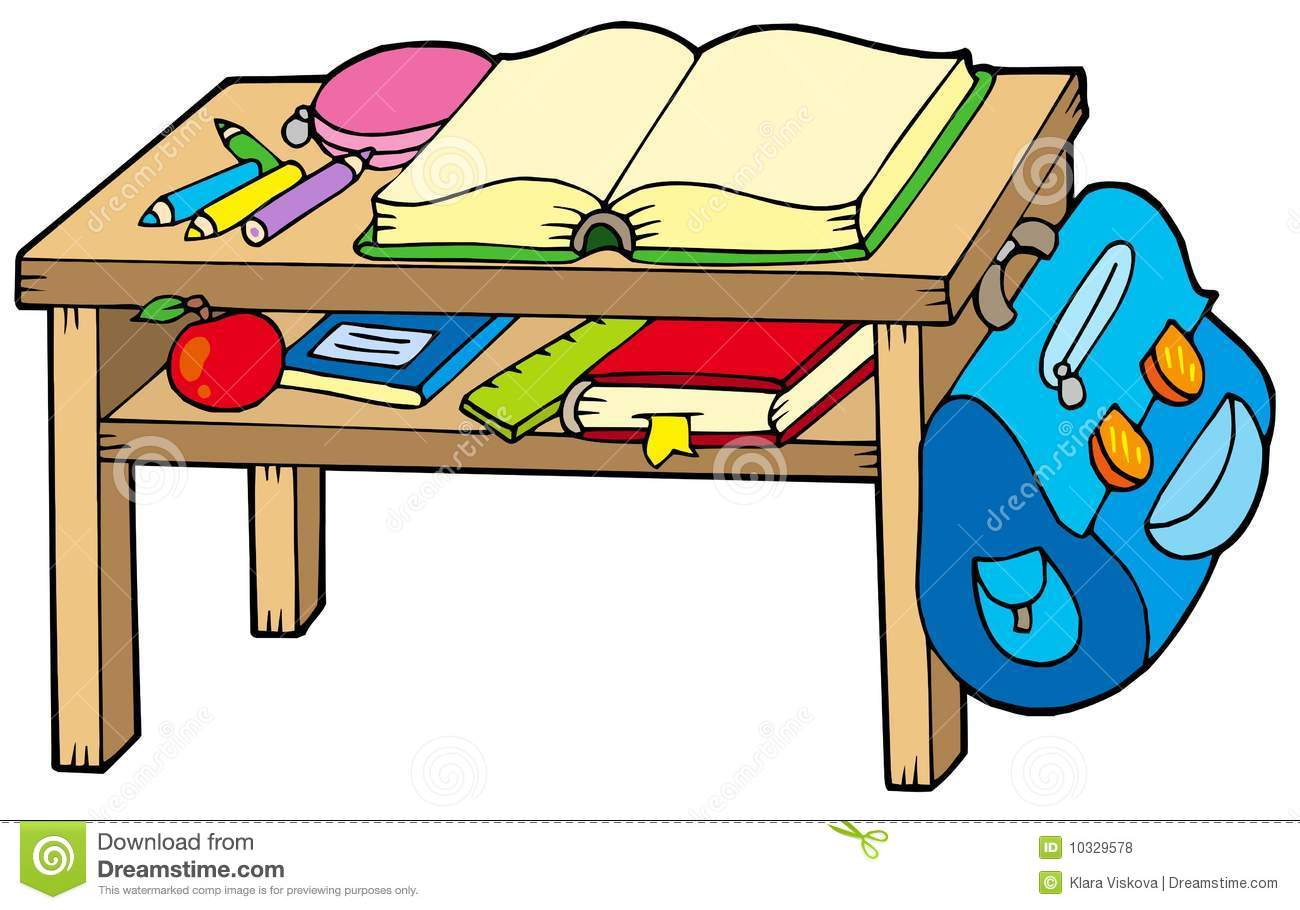 School table stock vector. Illustration of class, draw - 10329578 for School Table Clipart  66plt