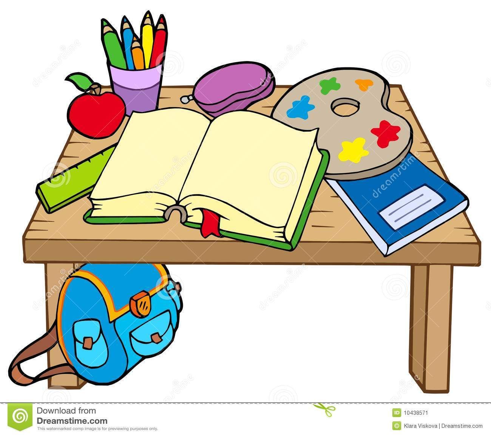 School table 2 stock vector. Illustration of illustration - 10438571 for School Table Clipart  5lp5wja