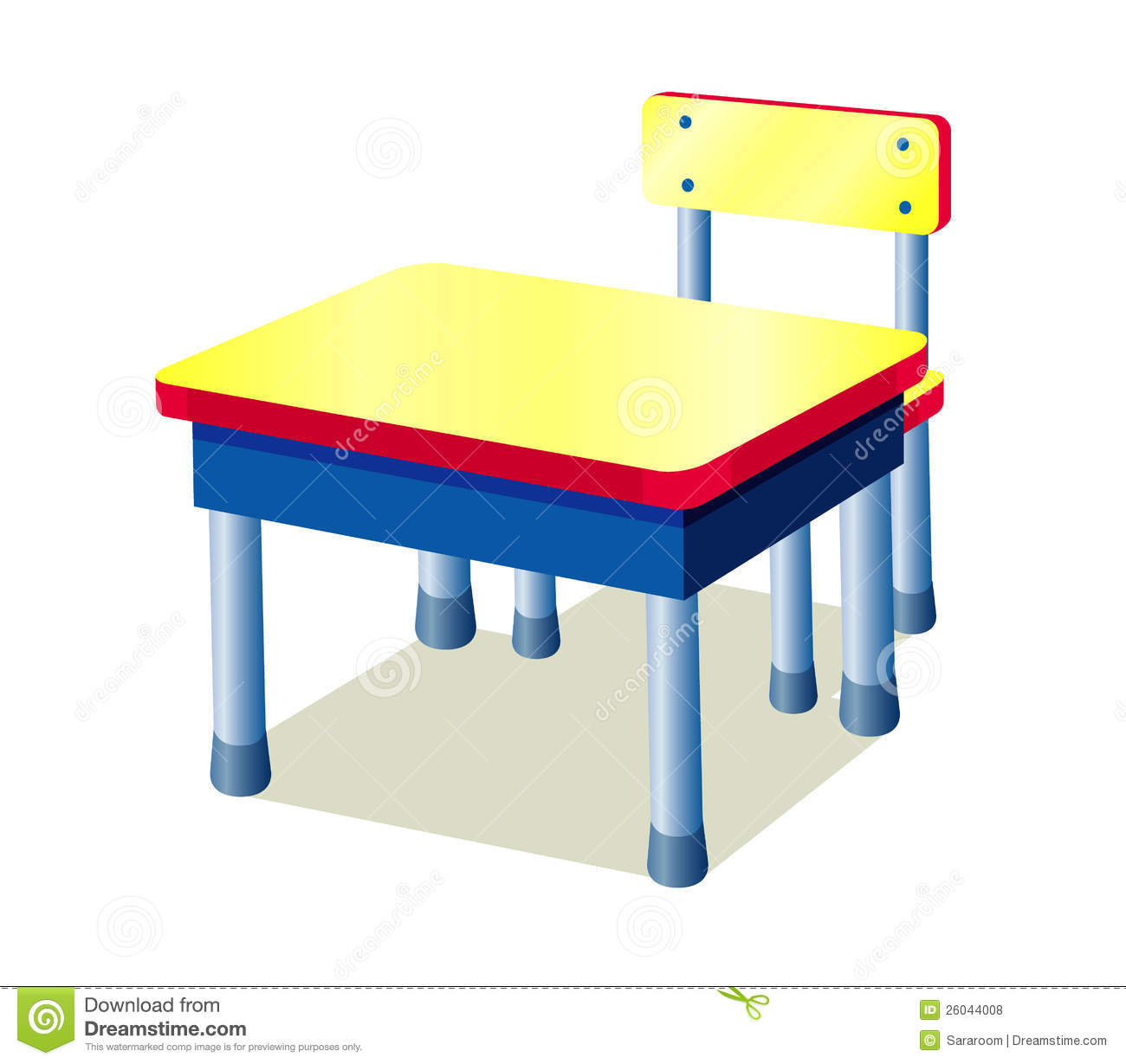 School Table Royalty Free Stock Photos Image 26044008