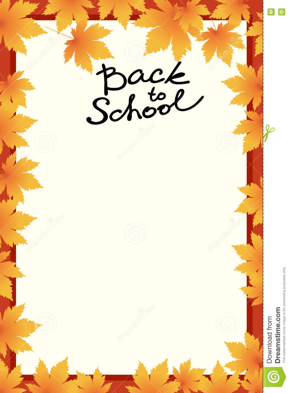 School Template Invitation Card Stock Vector Illustration of autumn banner: 75576035