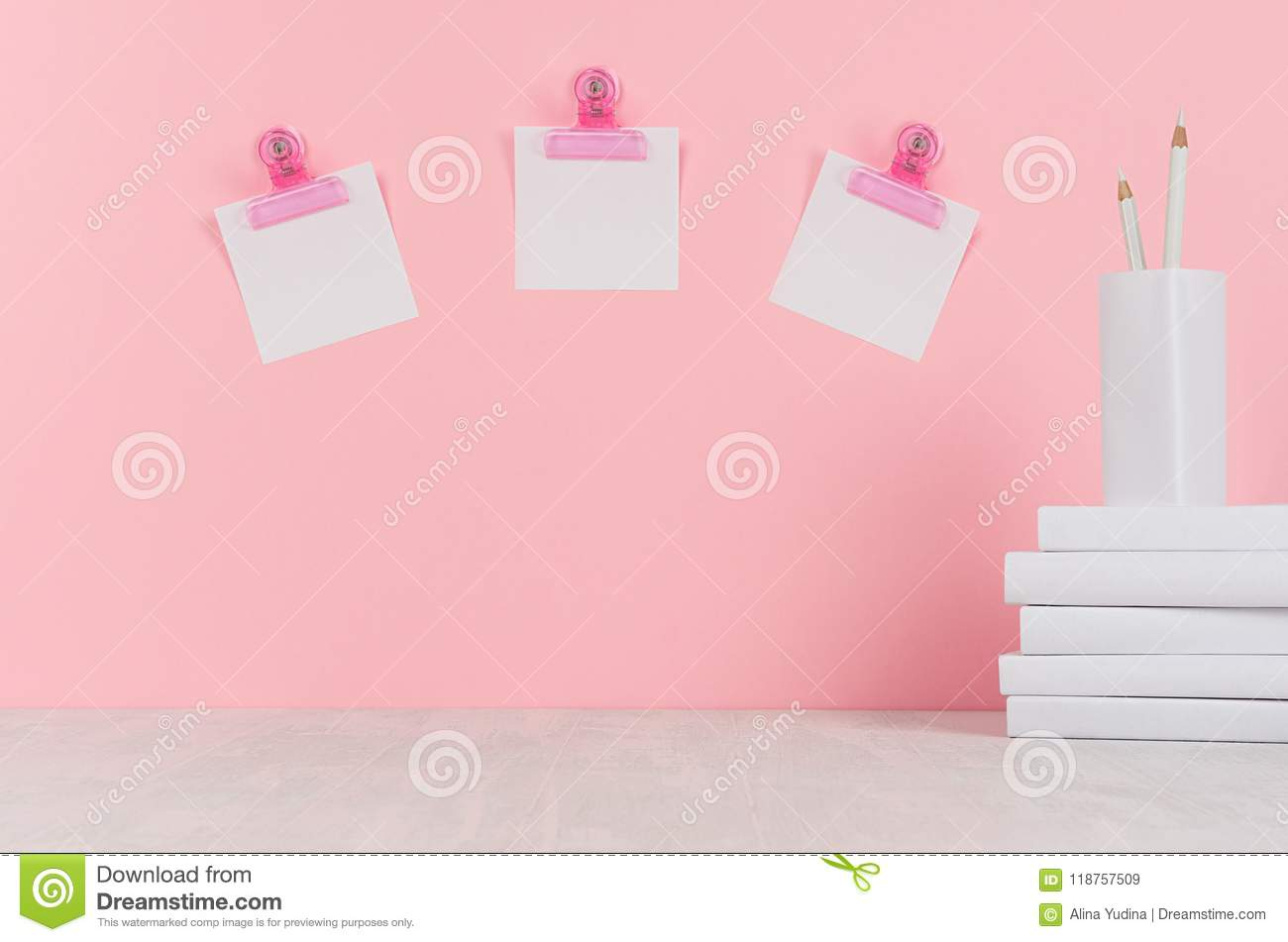 decorative office supplies. Download School Template - White Books, Stationery, Blank Stickers,  Decorative Balloons Origami On Decorative Office Supplies