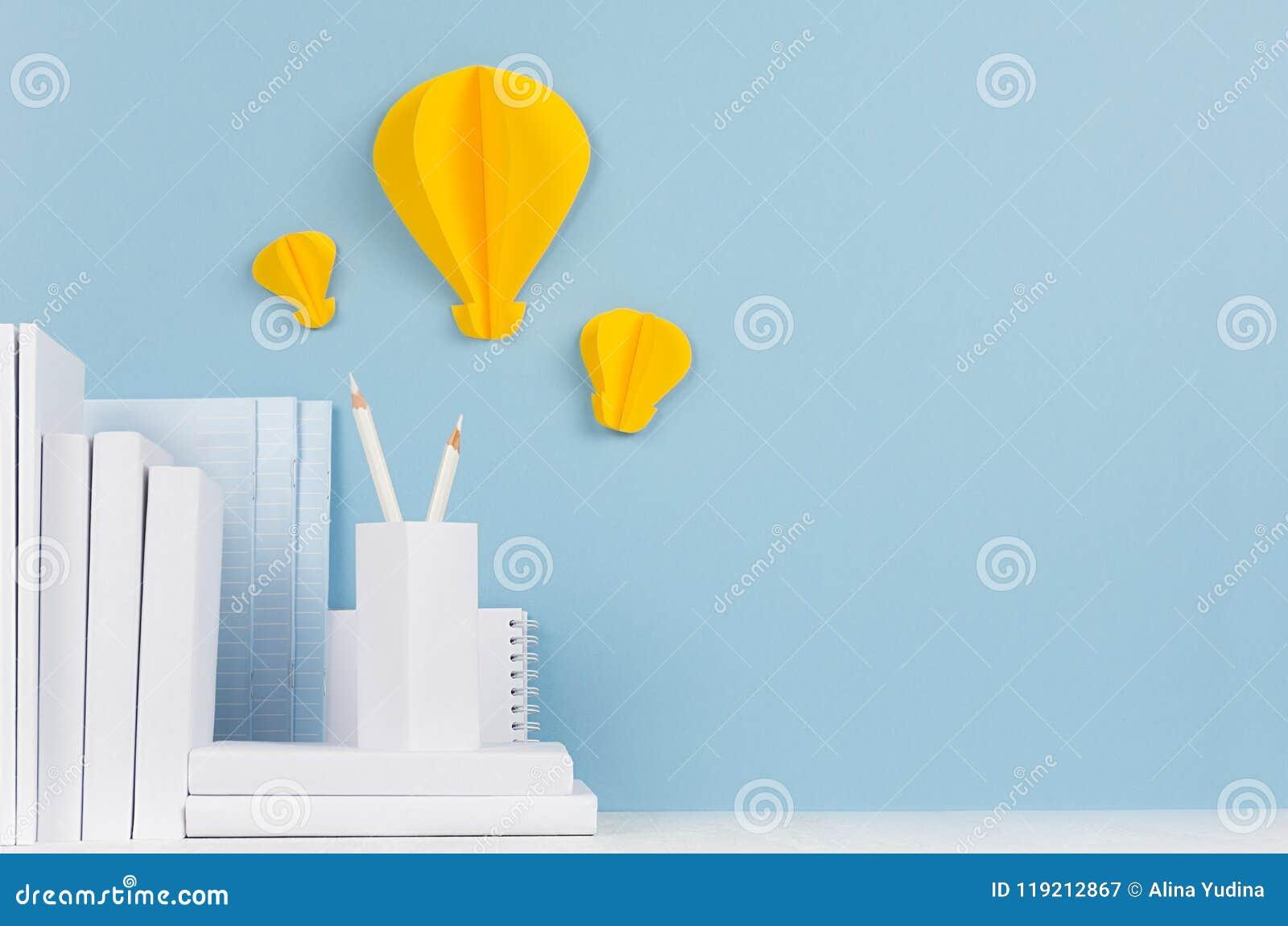 school template white books stationery decorative paper yellow
