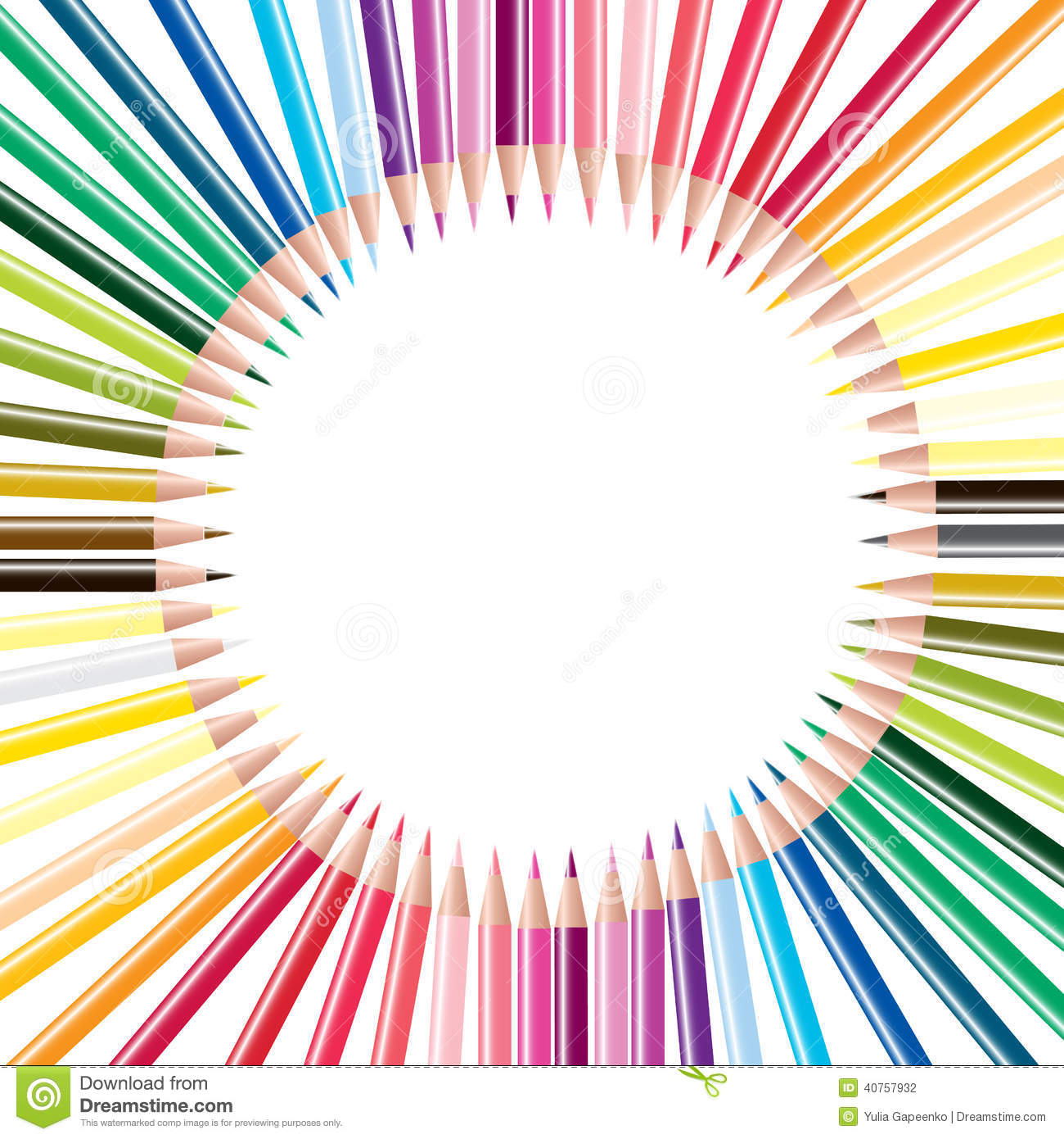 School Theme Background With Different Tools. Vector ...