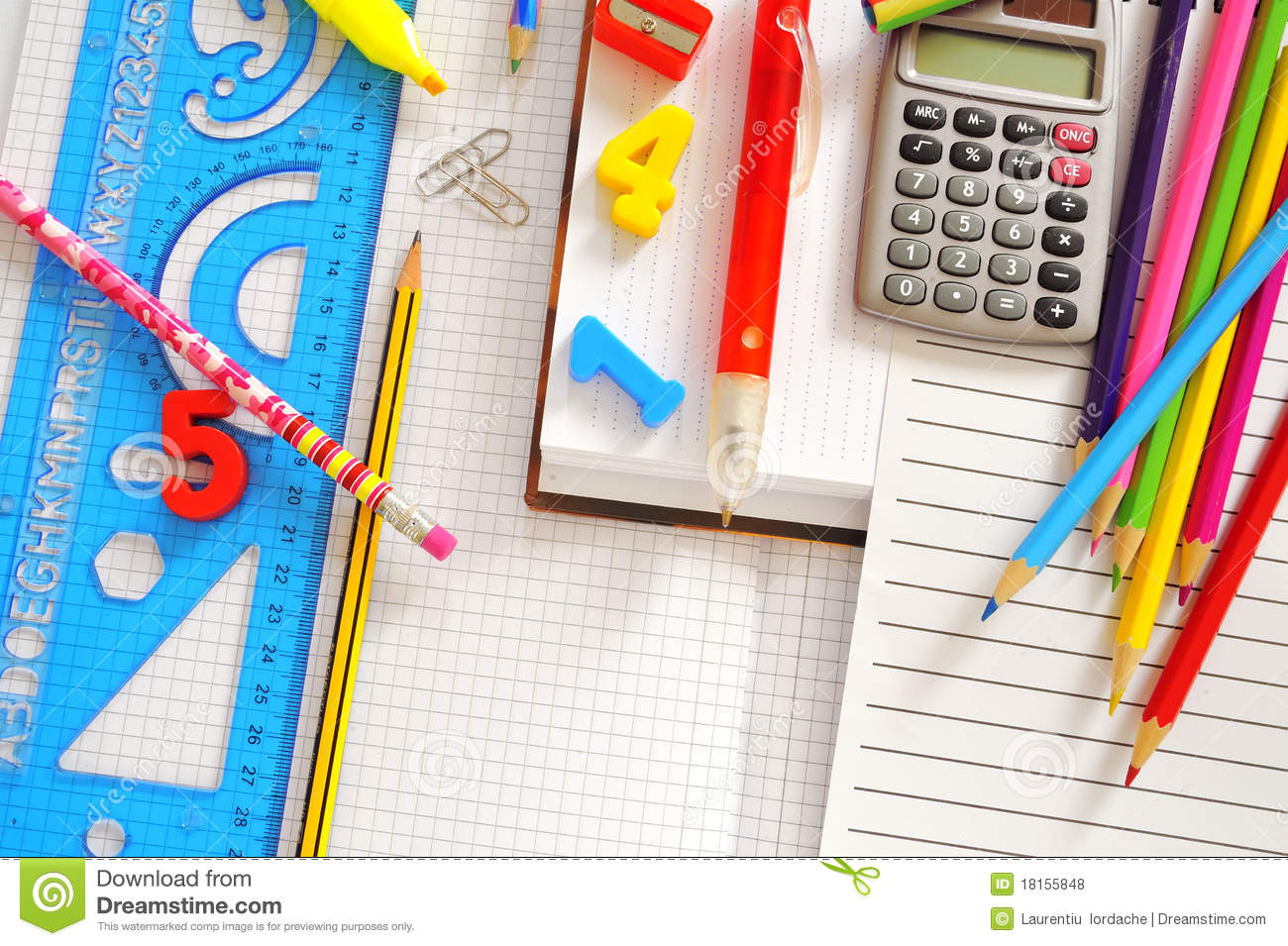 School Things Royalty Free Stock Photos - Image: 18155848