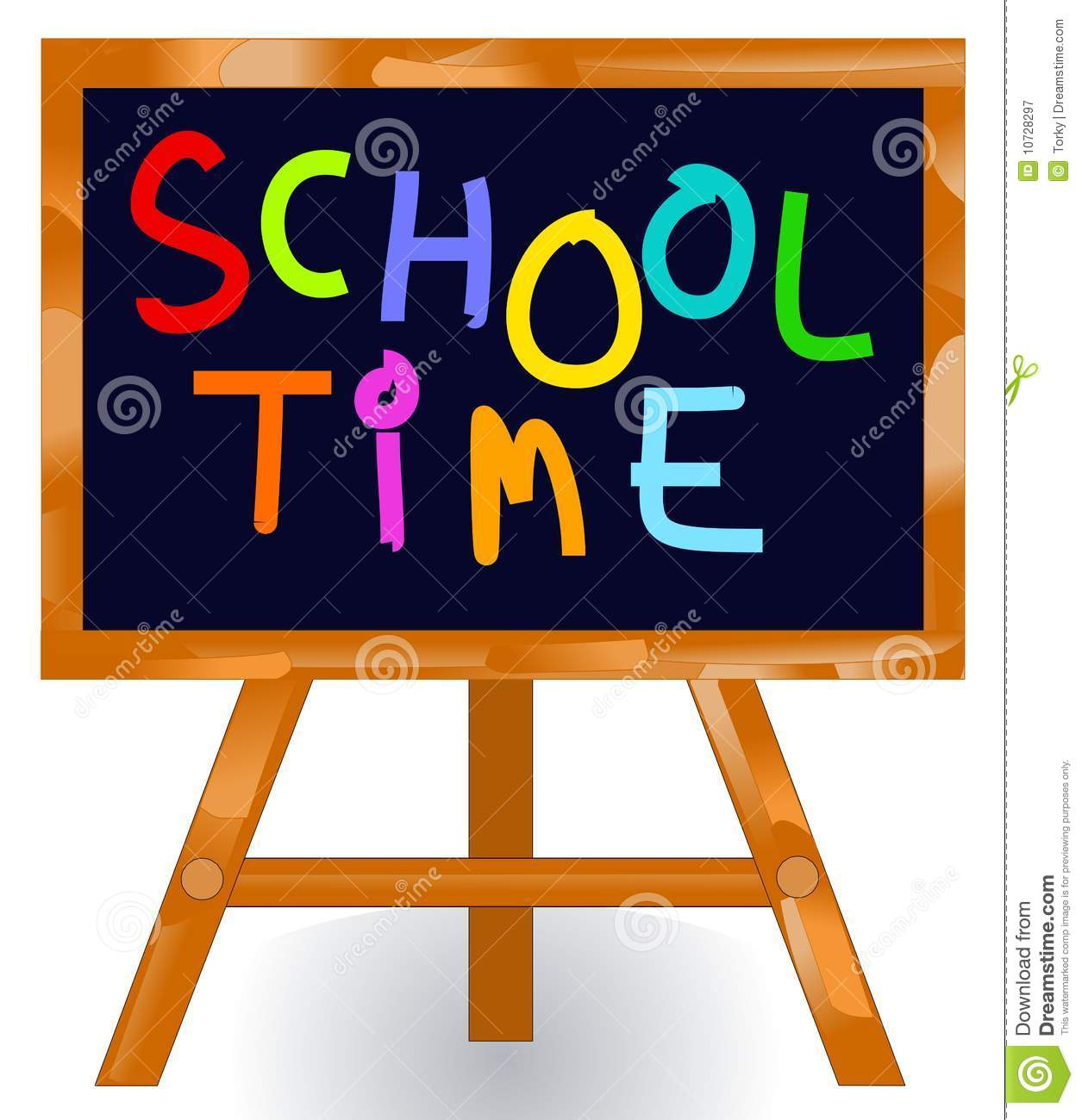 School Time Message Blackboard Royalty Free Stock Photography - Image ...