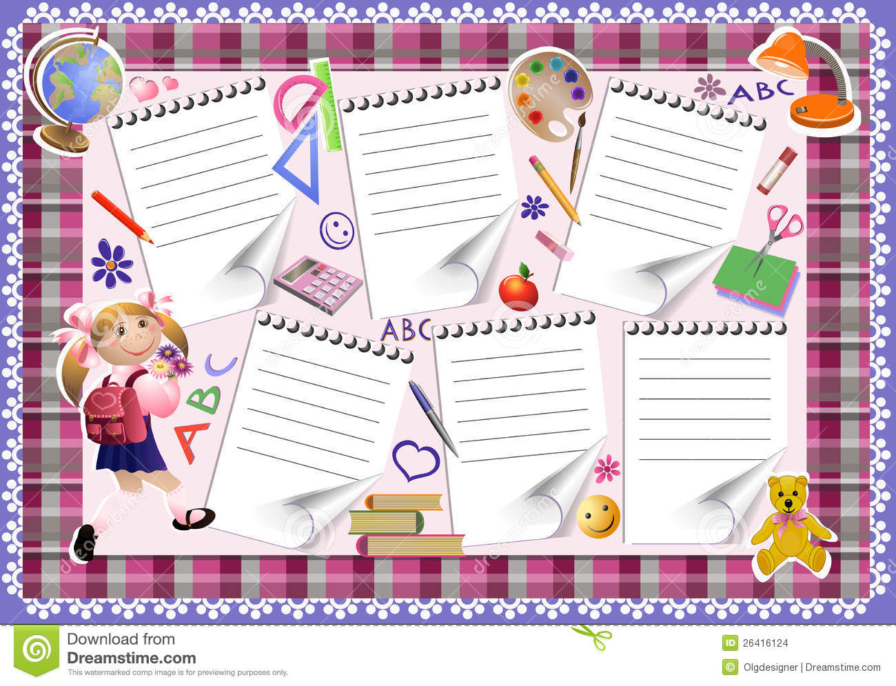 School Timetable Stock Images Image 26416124