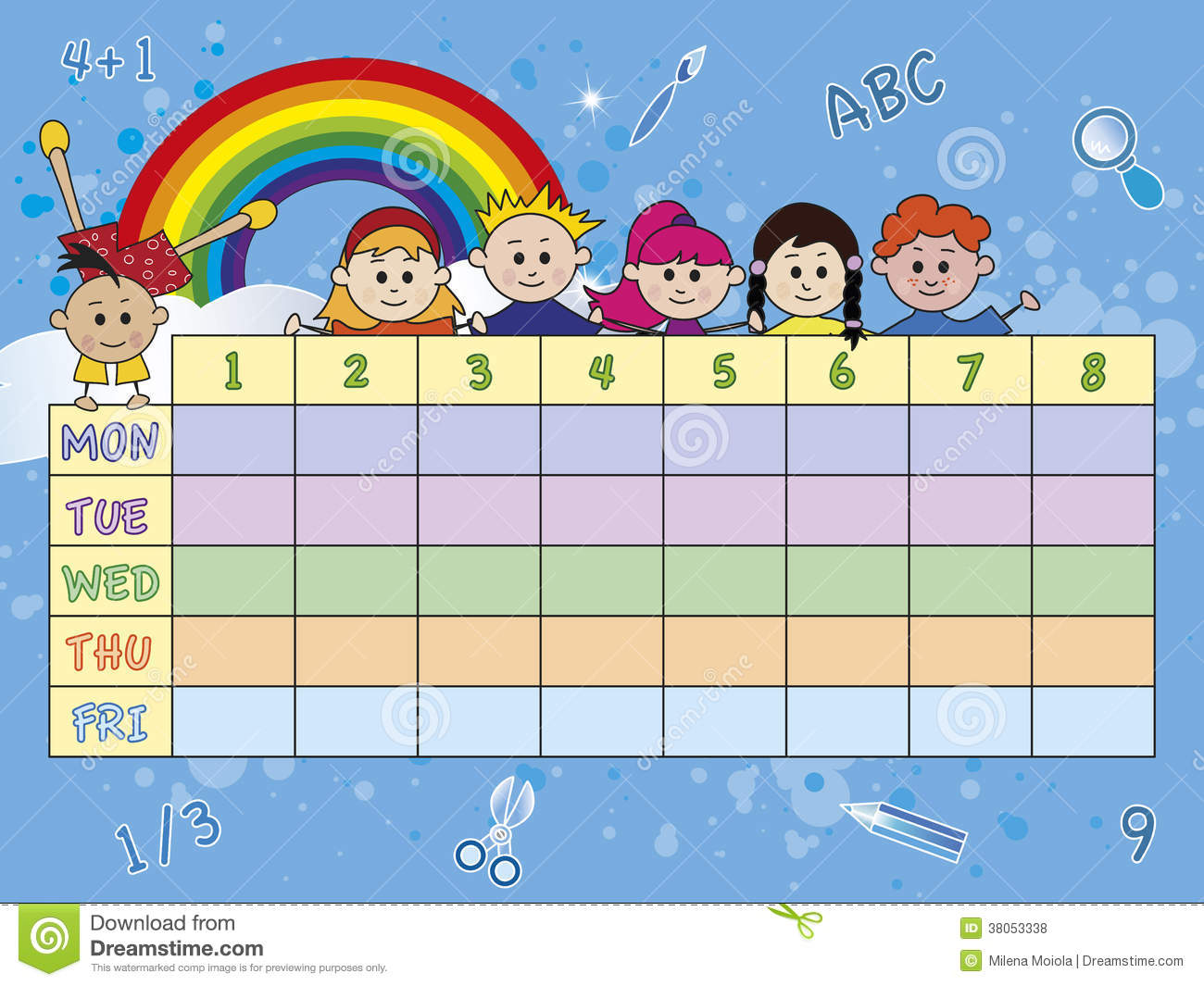 School Timetable Cdr Vector Royalty Free Image Image – School Time Table Designs
