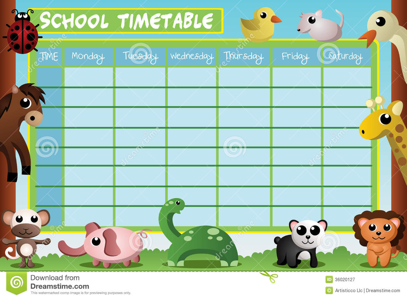 school timetable design royalty free stock photography