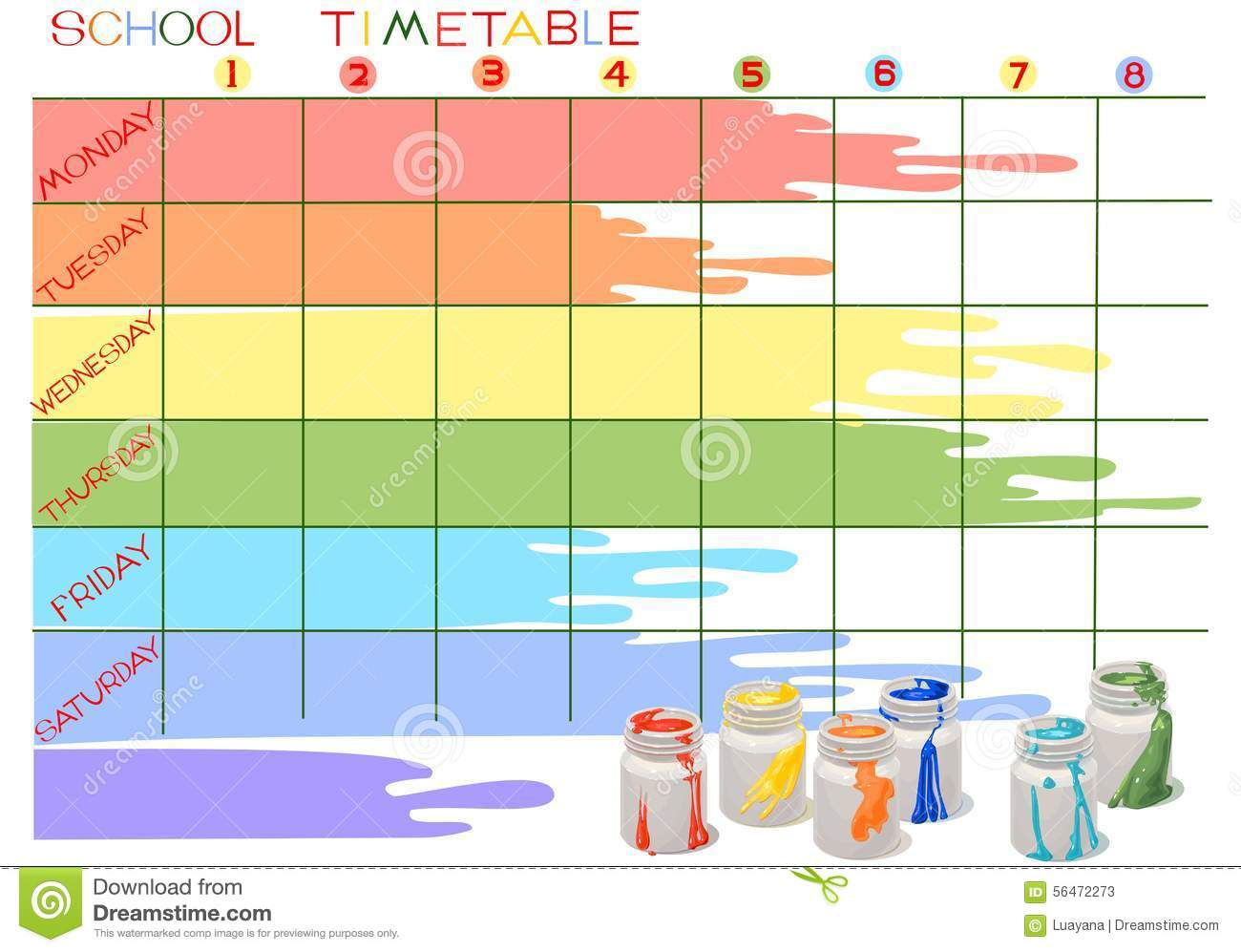 how to create a timetable for school