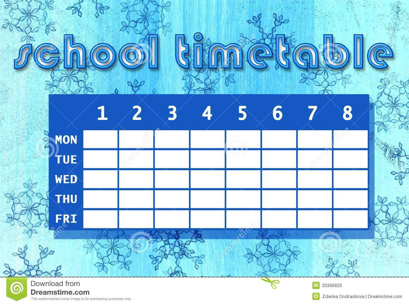 how to make a school time table manually