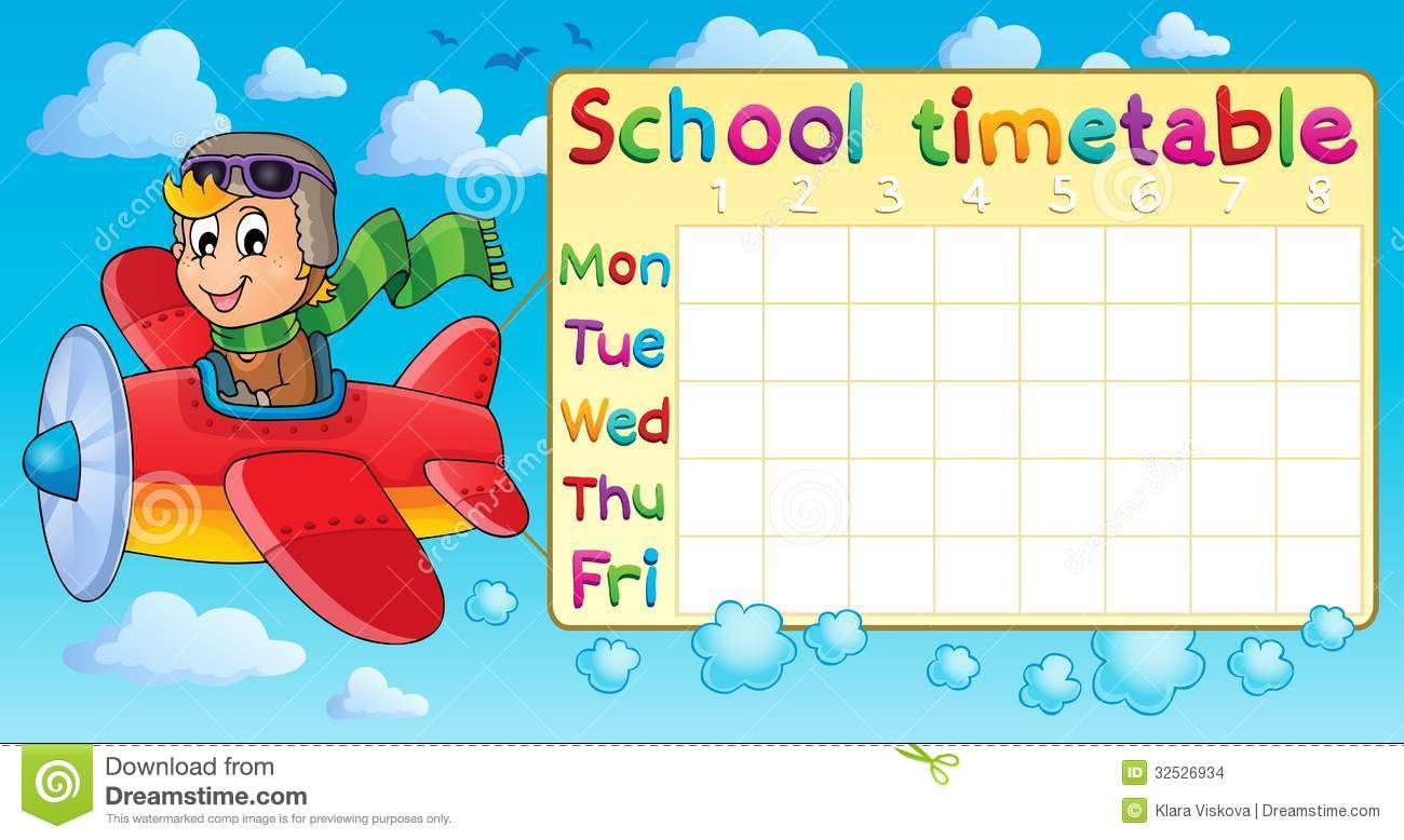 School Timetable Thematic Image 1 Stock Images Image