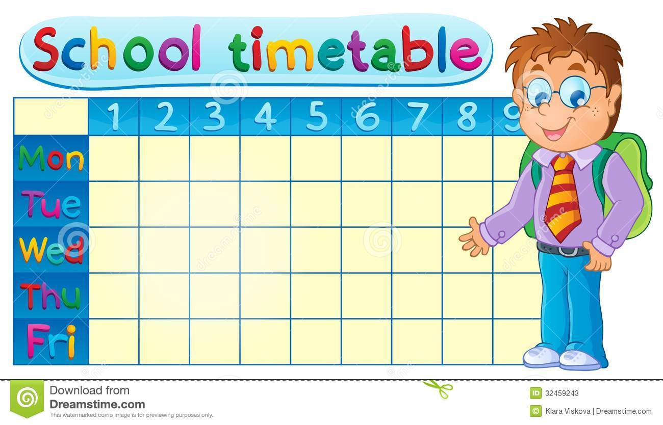 School Timetable Theme Image 1 Photos Image 32459243 – School Time Table Designs