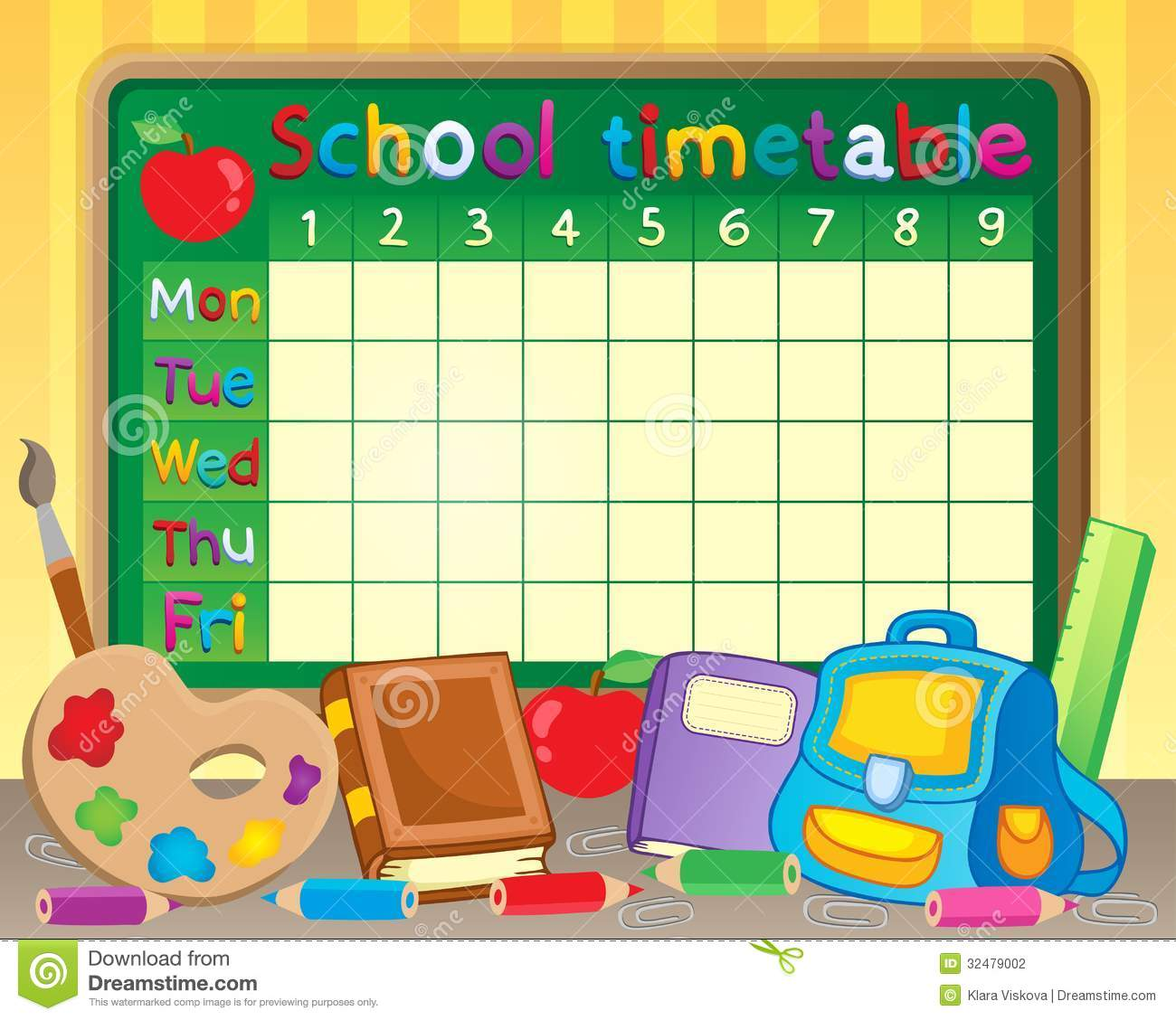 School Timetable Photo Image 20770810 – School Time Table Designs