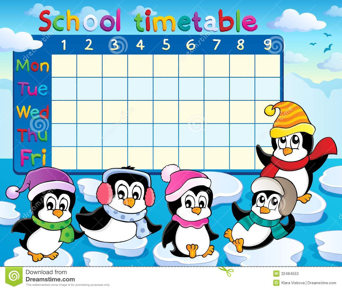 School Timetable Theme Image 6 Royalty Free Images Image – School Time Table Designs