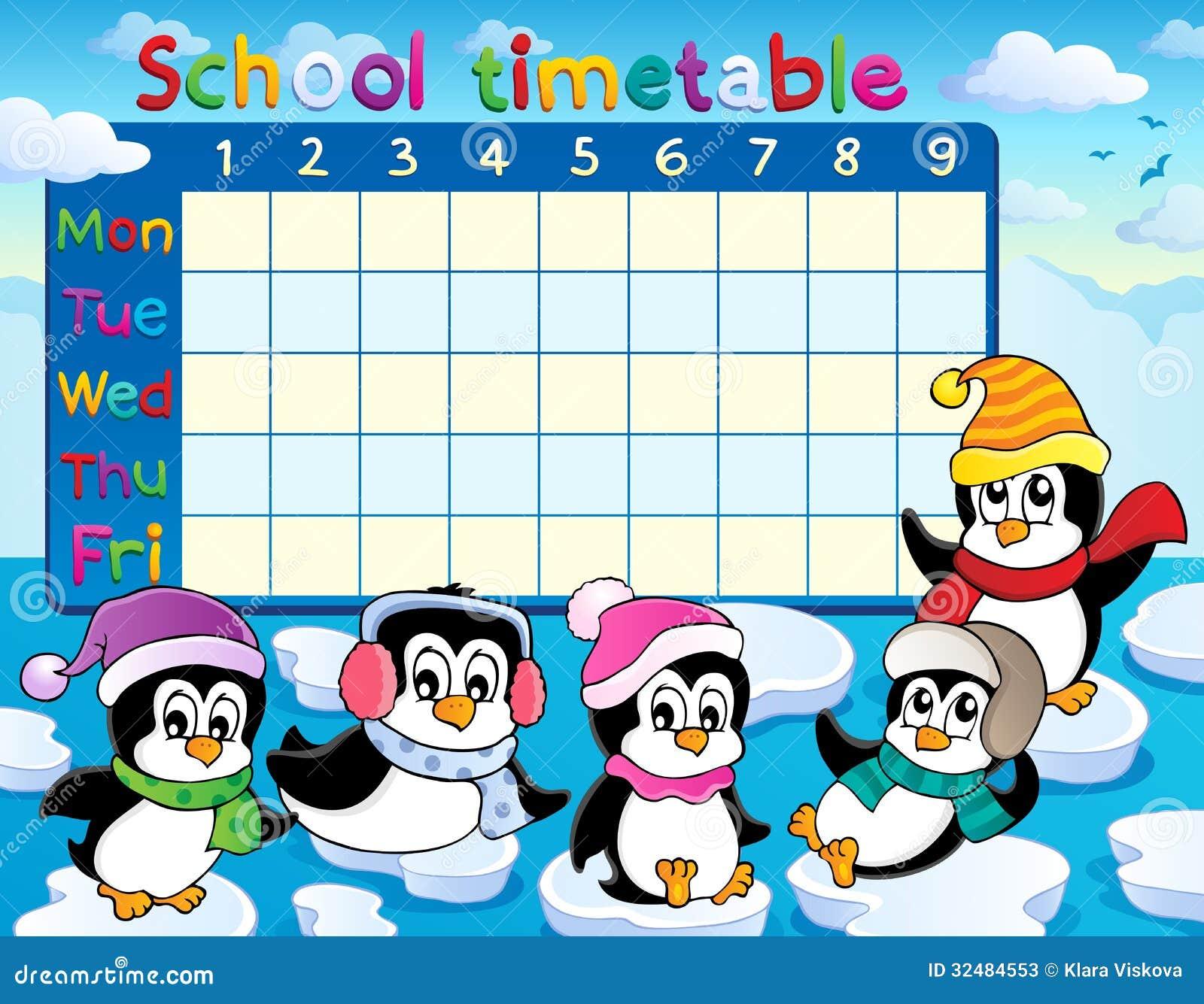 School Timetable Theme Image 9 Stock Photos - Image: 32484553