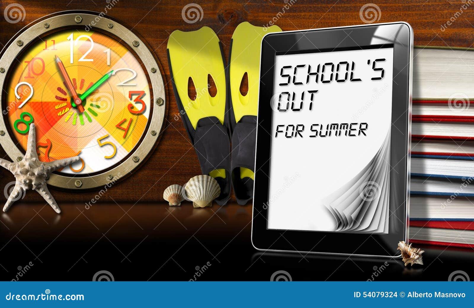 School uit voor de Zomer - Tabletcomputer