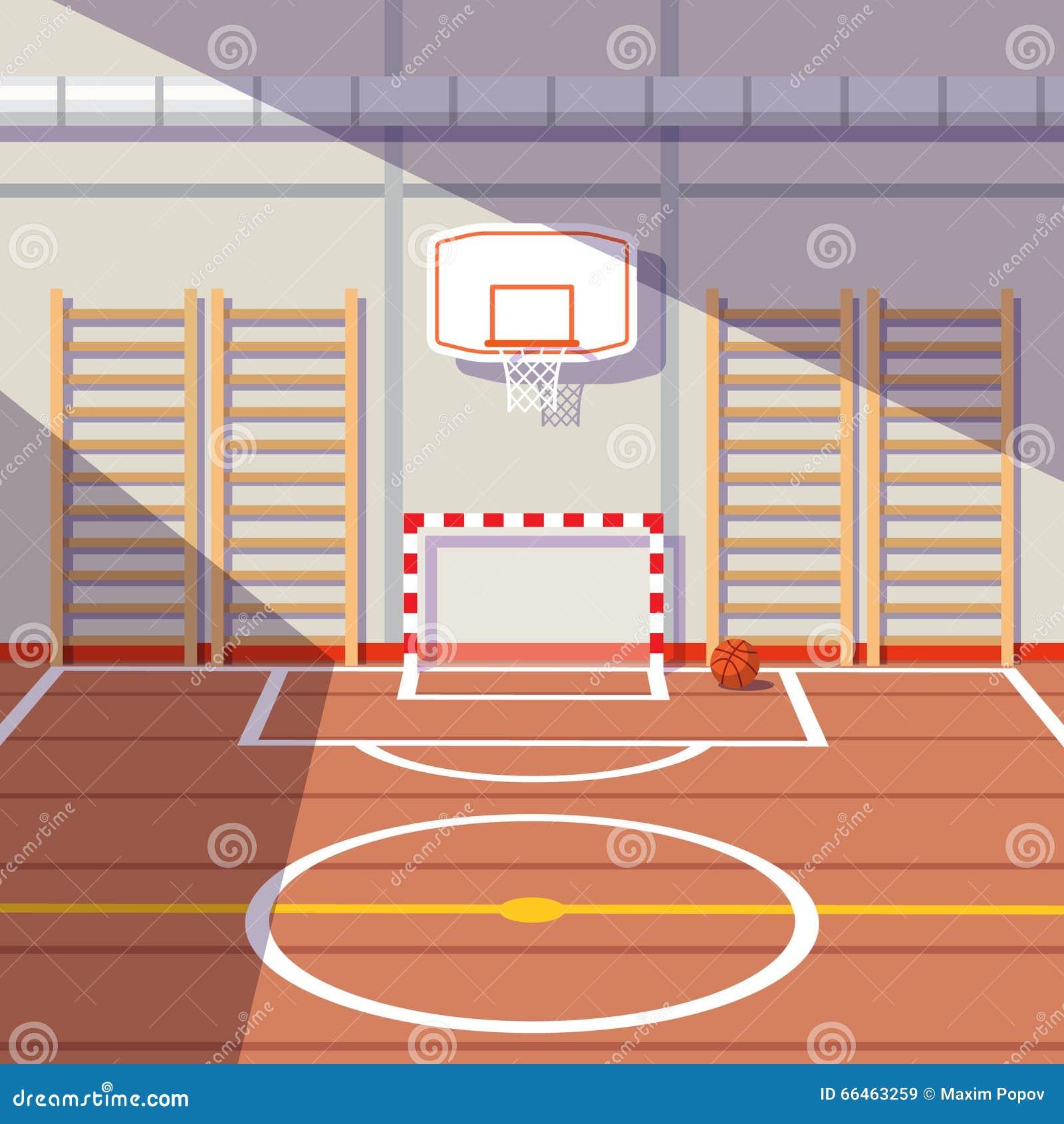 School Or University Gym Hall Cartoon Vector   CartoonDealer.com #66463259