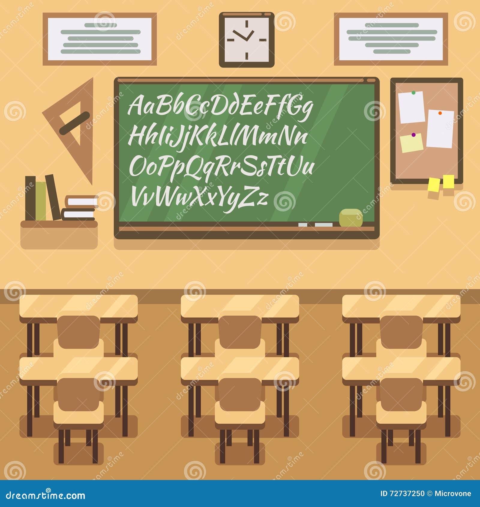 School University Institute College Classroom With