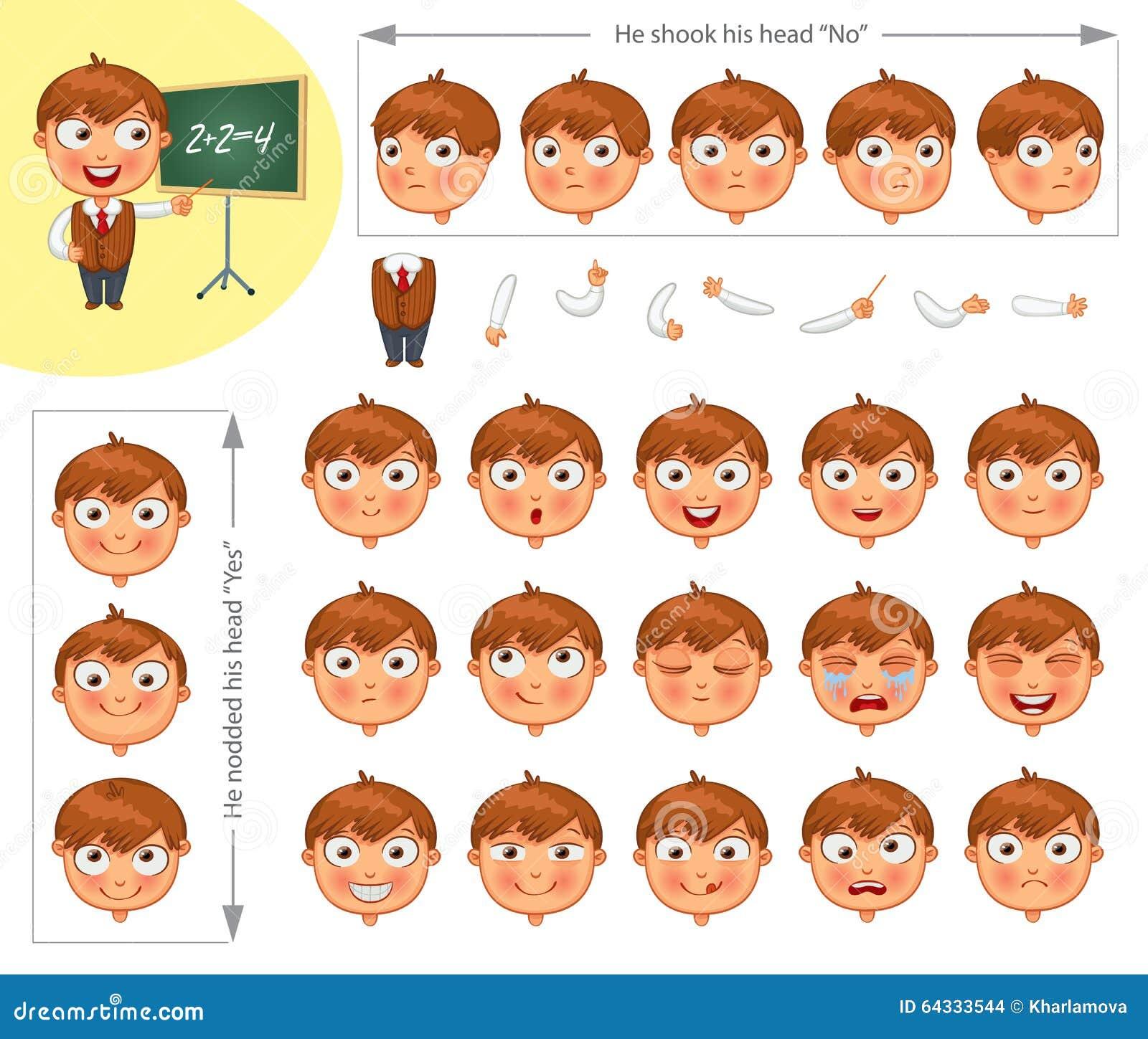 Cartoon Character Design Templates : Schoolboy cartoons illustrations vector stock images