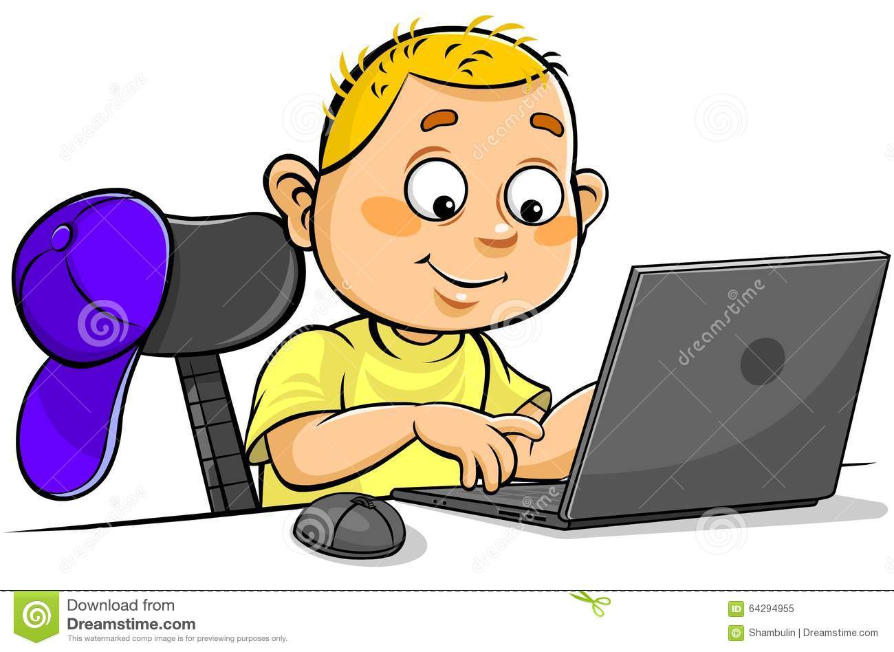 Boys Sitting In Front Of Computer Screen Playing Video