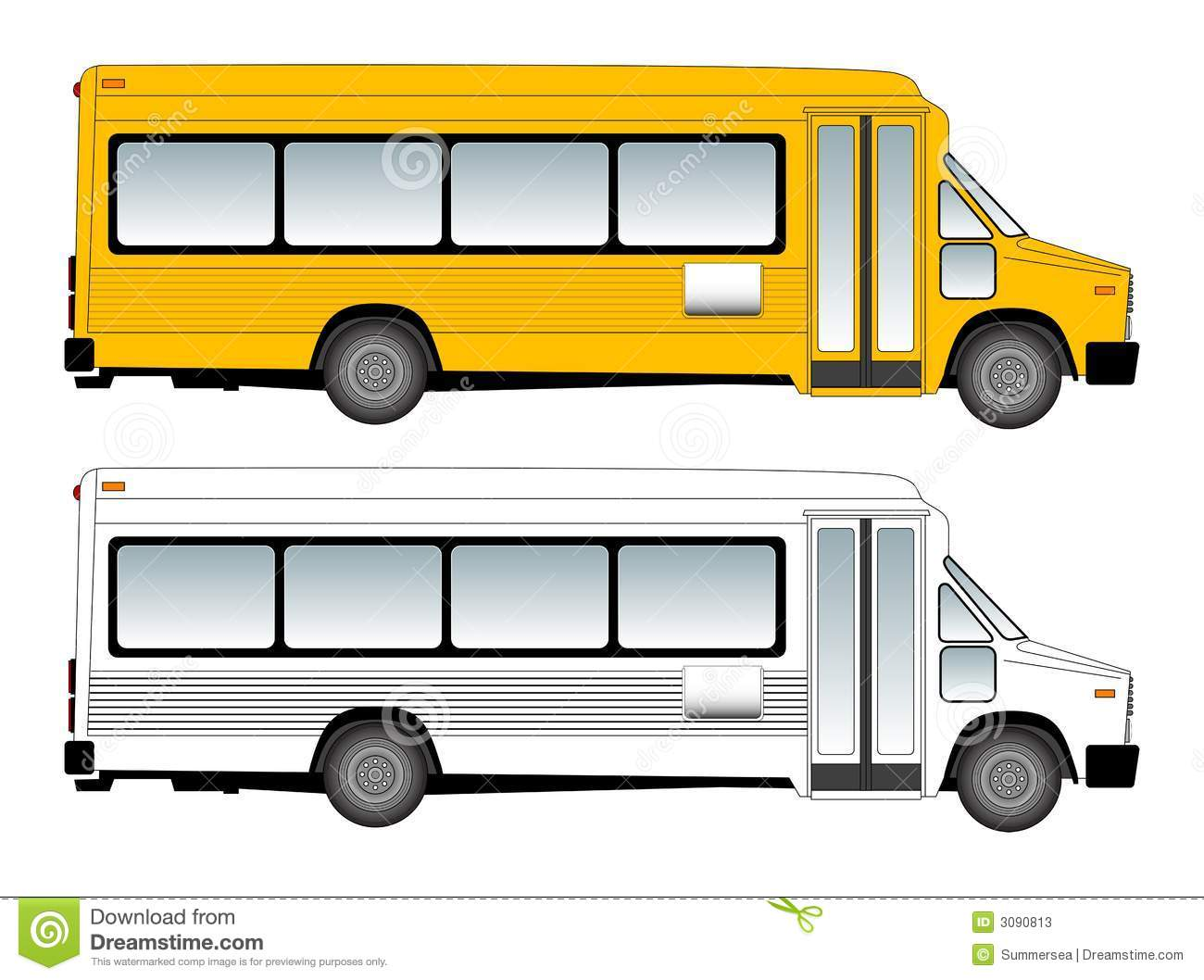 Schoolbus Vector Illustration Stock Photos - Image: 3090813