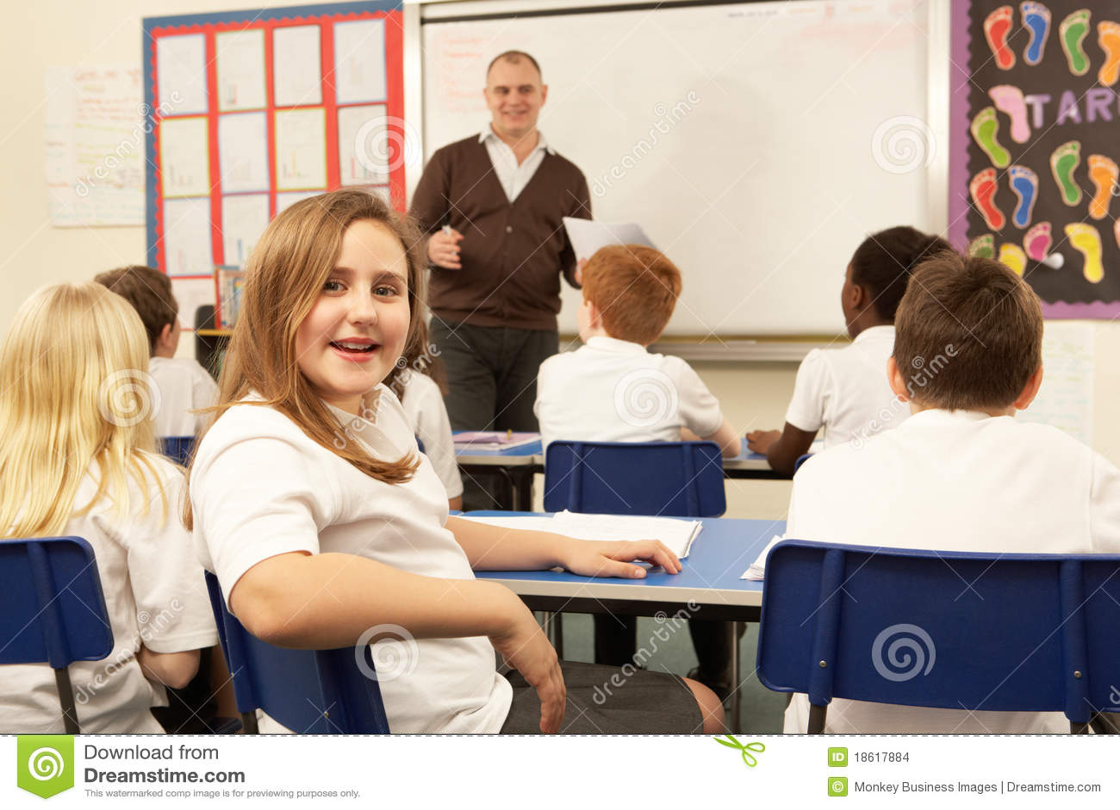 С учителем перед учениками 6 фотография