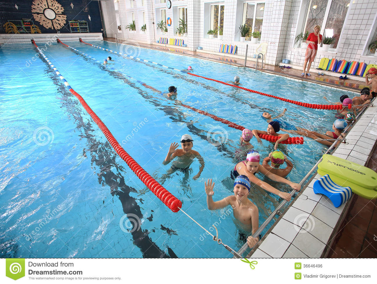 Schoolchildren swim in the covered sports public swimming - Wetherby swimming pool swim times ...