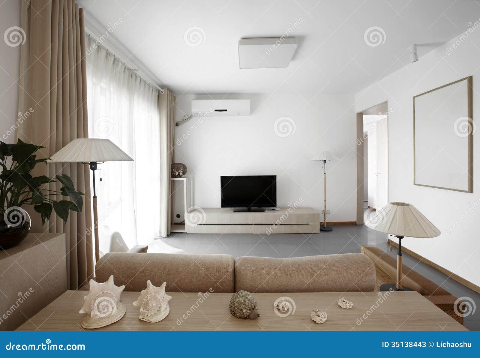 Schoon en elegant huisbinnenland stock afbeelding afbeelding
