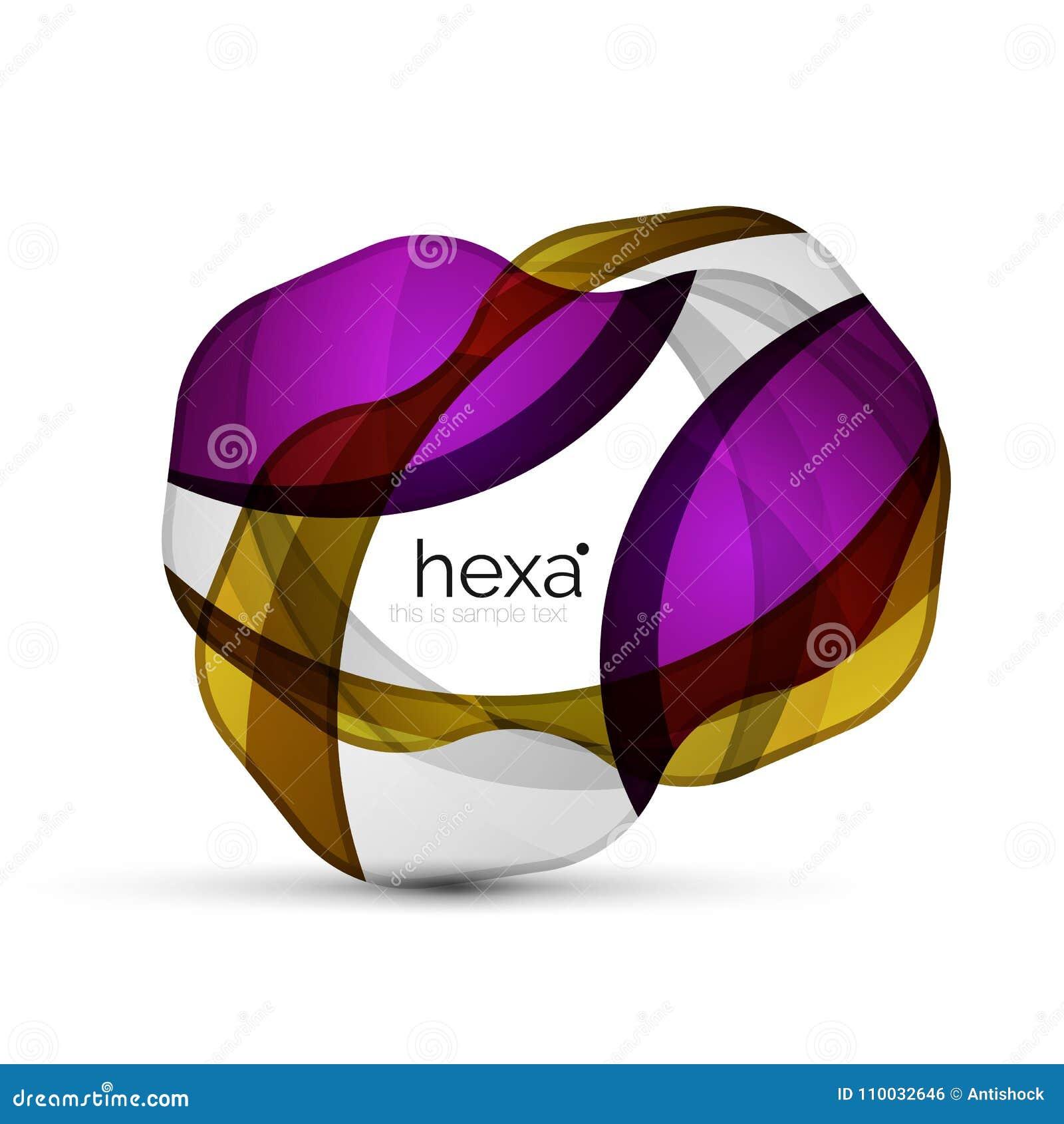 Schoon professioneel hexagon vorm bedrijfsembleem